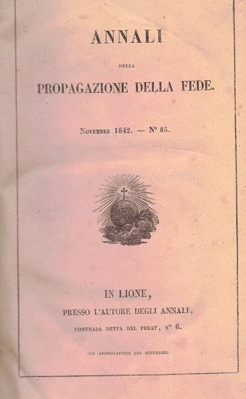 Annali della propagazione della fede N85, AA.VV.