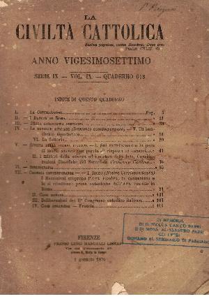 La Civiltà Cattolica. Anno 27, quaderno 613, AA.VV.