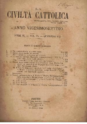 La Civiltà Cattolica. Anno 27, quaderno 614, AA.VV.