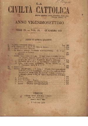 La Civiltà Cattolica. Anno 27, quaderno 615, AA.VV.