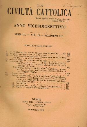 La Civiltà Cattolica. Anno 27, quaderno 617, AA.VV.