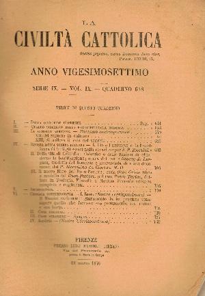 La Civiltà Cattolica. Anno 27, quaderno 618, AA.VV.