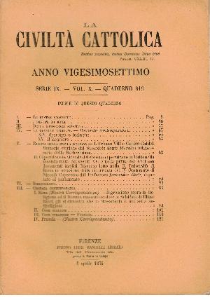 La Civiltà Cattolica. Anno 27, quaderno 619, AA.VV.