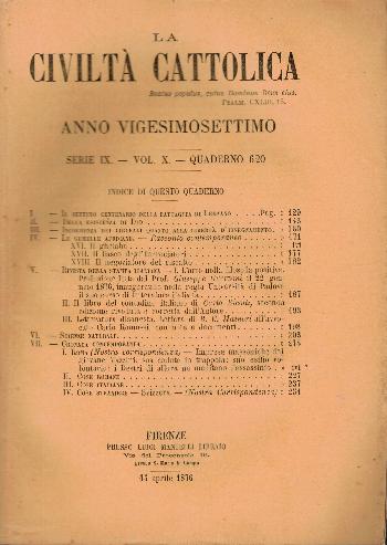La Civiltà Cattolica. Anno 27, quaderno 620, AA.VV.