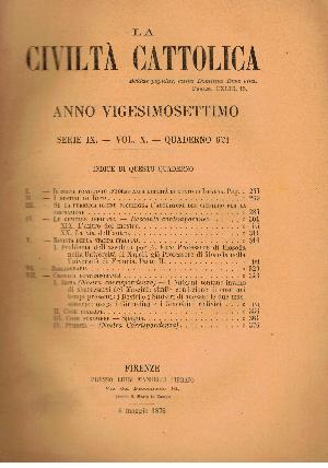 La Civiltà Cattolica. Anno 27, quaderno 621, AA.VV.