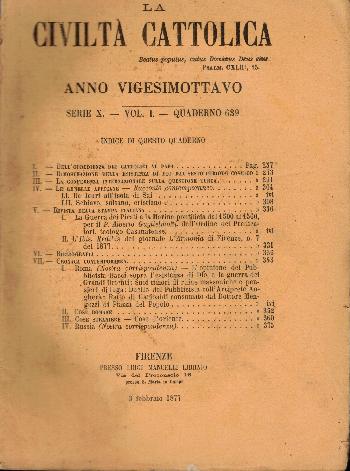 La Civiltà Cattolica. Anno 28, quaderno 639, AA.VV.