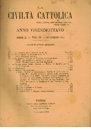 La Civiltà Cattolica. Anno 28, quaderno 653, AA.VV.