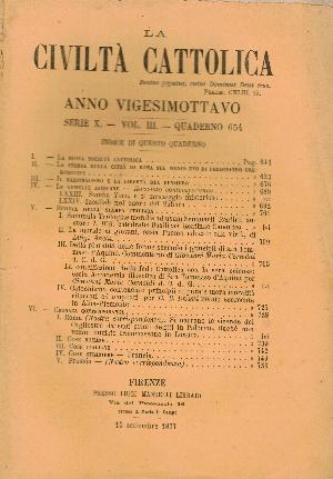 La Civiltà Cattolica. Anno 28, quaderno 654, AA.VV.