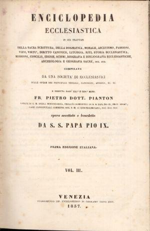 Enciclopedia Ecclesiastica Vol. III, Fr. Pietro Dott. Pianton
