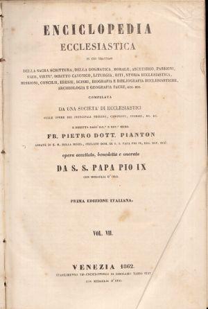 Enciclopedia Ecclesiastica Vol. VII, Fr. Pietro Dott. Pianton