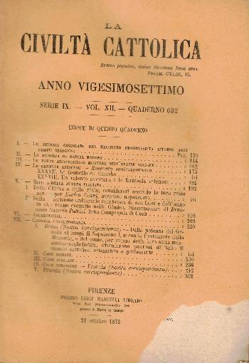 La Civiltà Cattolica. Anno 27, quaderno 632, AA.VV.