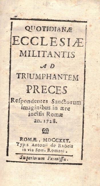 Quotidianae Ecclesiae militantis ad triumphanem preces JUNIUS, AA.VV.