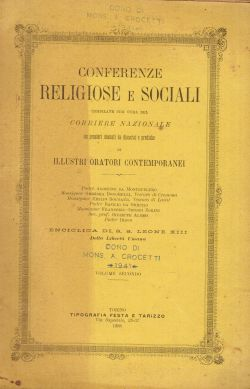 Conferenze religiose e sociali. Enciclica di S.S. Leone XIII. Volume secondo, AA. VV.