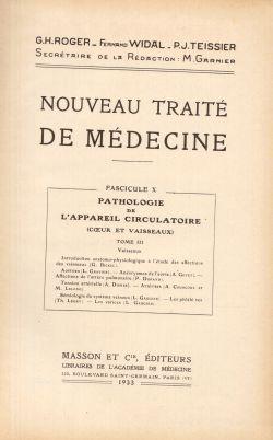 Nouveau Traité De Medecine. Tome XXI, G. H. Roger, F. Widal, P. J. Teissier