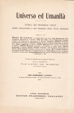 Universo ed umanità. Storia dei progressi umani nella conoscenza e nel dominio delle forze naturali. Opera in 5 volumi,