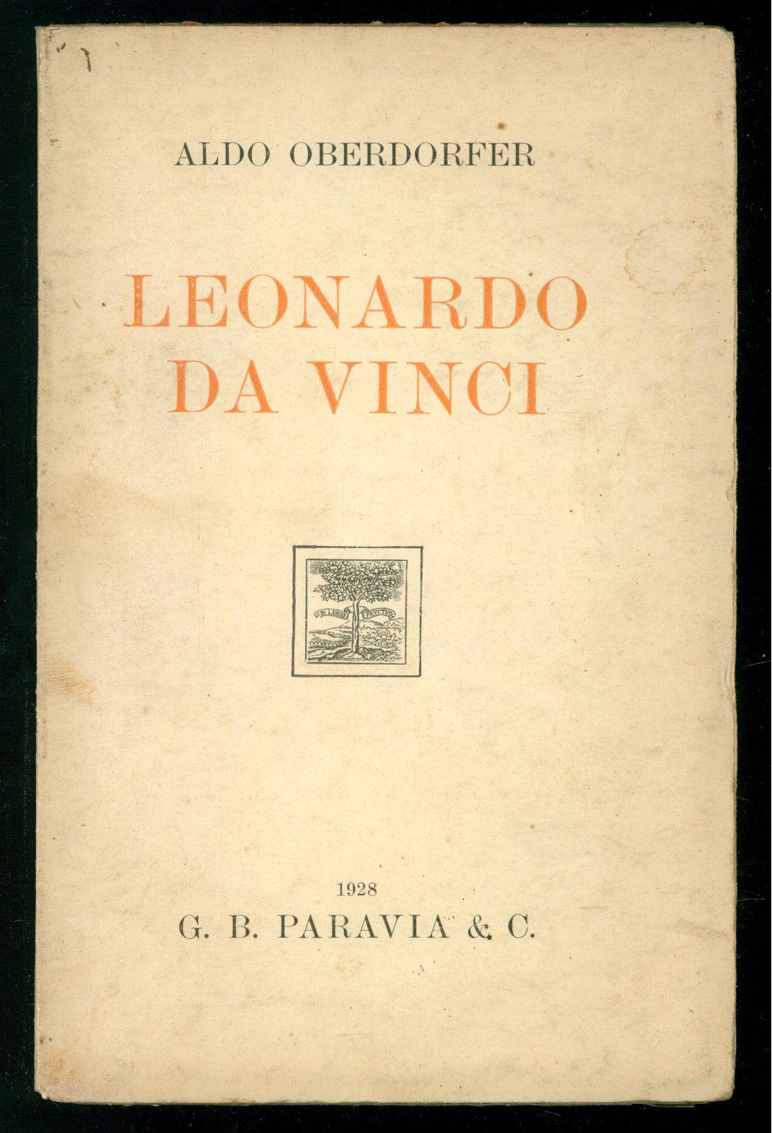 LEONARDO DA VINCI, OBERDORFER ALDO