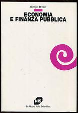 ECONOMIA E FINANZA PUBBLICA, BROSIO GIORGIO