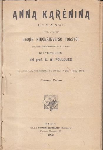 Anna Karenina Volume primo - Leone Nikolaievitsc Tolstoi