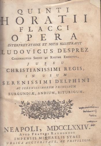 Quinti Horatii Flacci Opera - Horacio