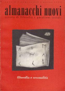 Almanacchi nuovi, rivista di filosofia e questioni sociali, filosofia e sessualità, AA. VV.