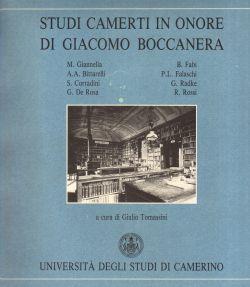 Studi camerti in onore di Giacomo Boccanera, Giulio Tomassini