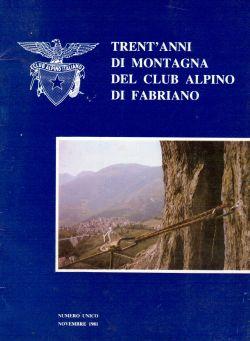 Trent'anni di montagna del club alpino di Fabriano, Novembre 1981, AA. VV